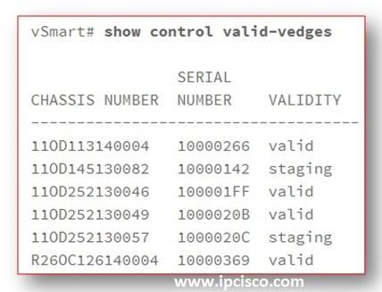 show-control-valid-vedges-cisco-sd-wan